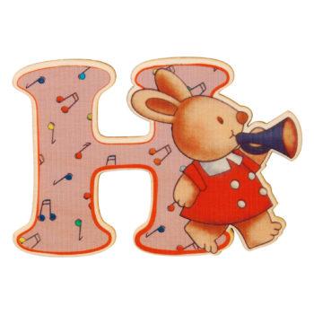 lettera in legno H