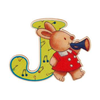 lettera in legno J