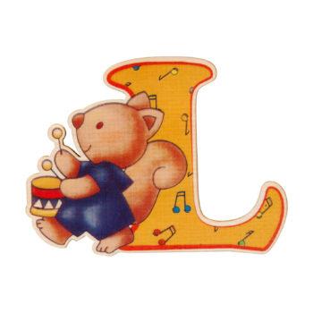 lettera in legno L