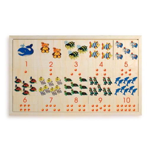 Numeri Disegni e Quantità - gioco da tavolo - gioco didattico - Dida