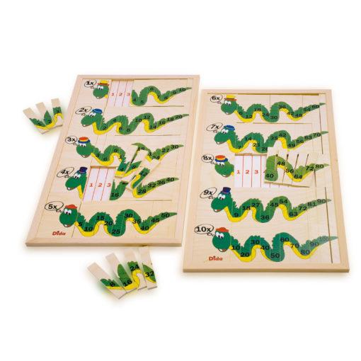 Draghi tabelline - metodo montessoriano - matematica per bambini - Dida