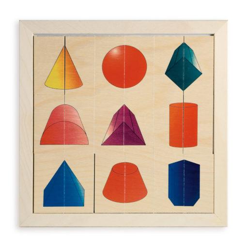 Gioco delle metà speculari gioco da tavolo con forme geometriche 3D-Dida