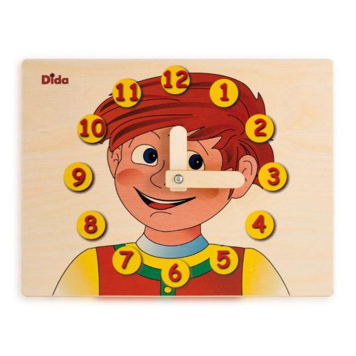 Orologio didattico Bimbo - Imparare a leggere le ore da un orologio - Dida