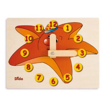 Orologio didattico Stella marina- imparare le ore - l'orologio manuale - Dida