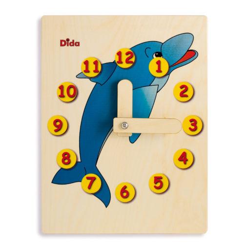 Orologio didattico Delfino -Metodo per insegnare a leggere l'orologio - Dida