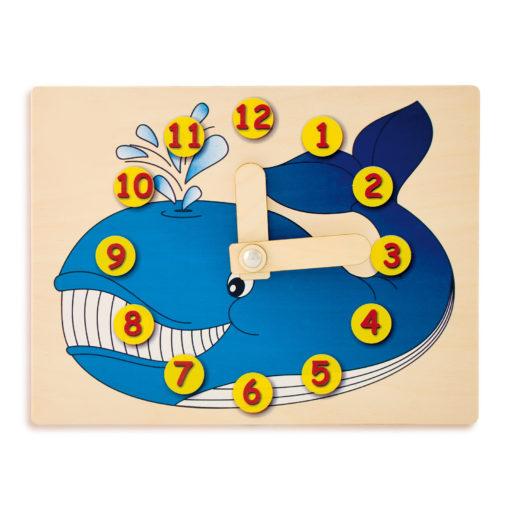 Orologio didattico balena - imparare a leggere le ore - gioco didattico - Dida