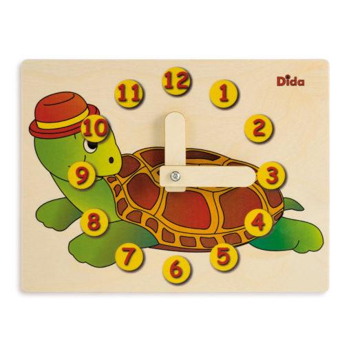 Orologio didattico tartaruga - apprendere l'orologio - Montessori - Dida