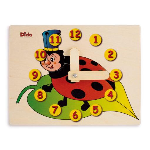 Orologio didattico Coccinella - gioco didattico - metodo Montessori - Dida