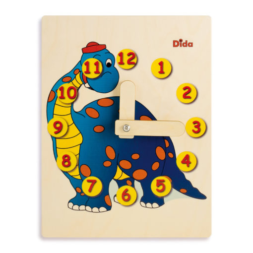 Orologio didattico dinosauro imparare le ore giocando - Dida