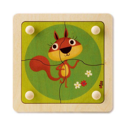 Puzzle Scoiattolo - giochi per lo sviluppo cognitivo e motricità fine - Dida