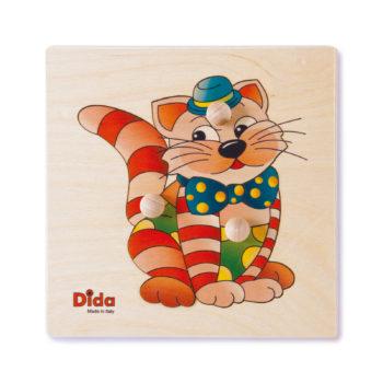 Puzzle Gatto, i primi incastri sviluppa l'attività visiva-motoria dei bimbi -Dida