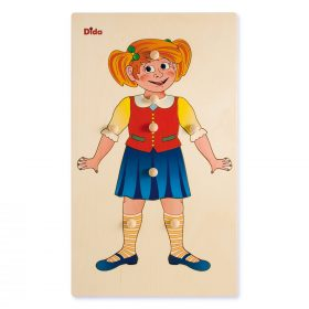 Schema corporeo bimba - Puzzle in legno - il corpo umano- Dida