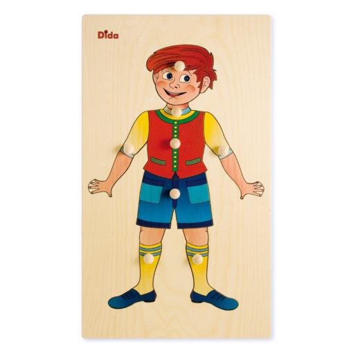 Schema corporeo bimbo - Esplorando il corpo umano - Puzzle legno - Dida giochi