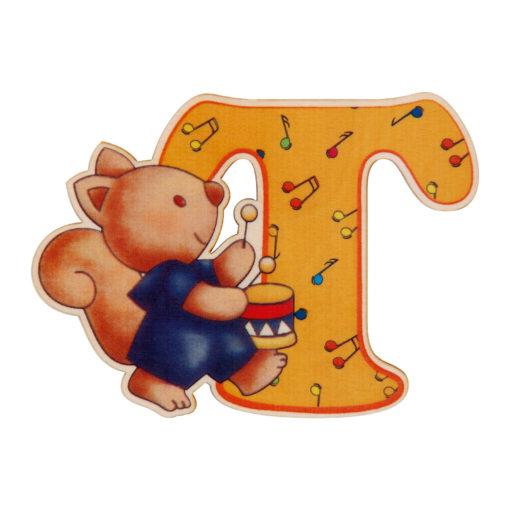 lettera in legno T