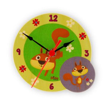 orologio tavolo scoiattoli