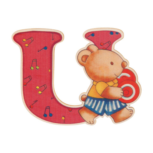lettera in legno U