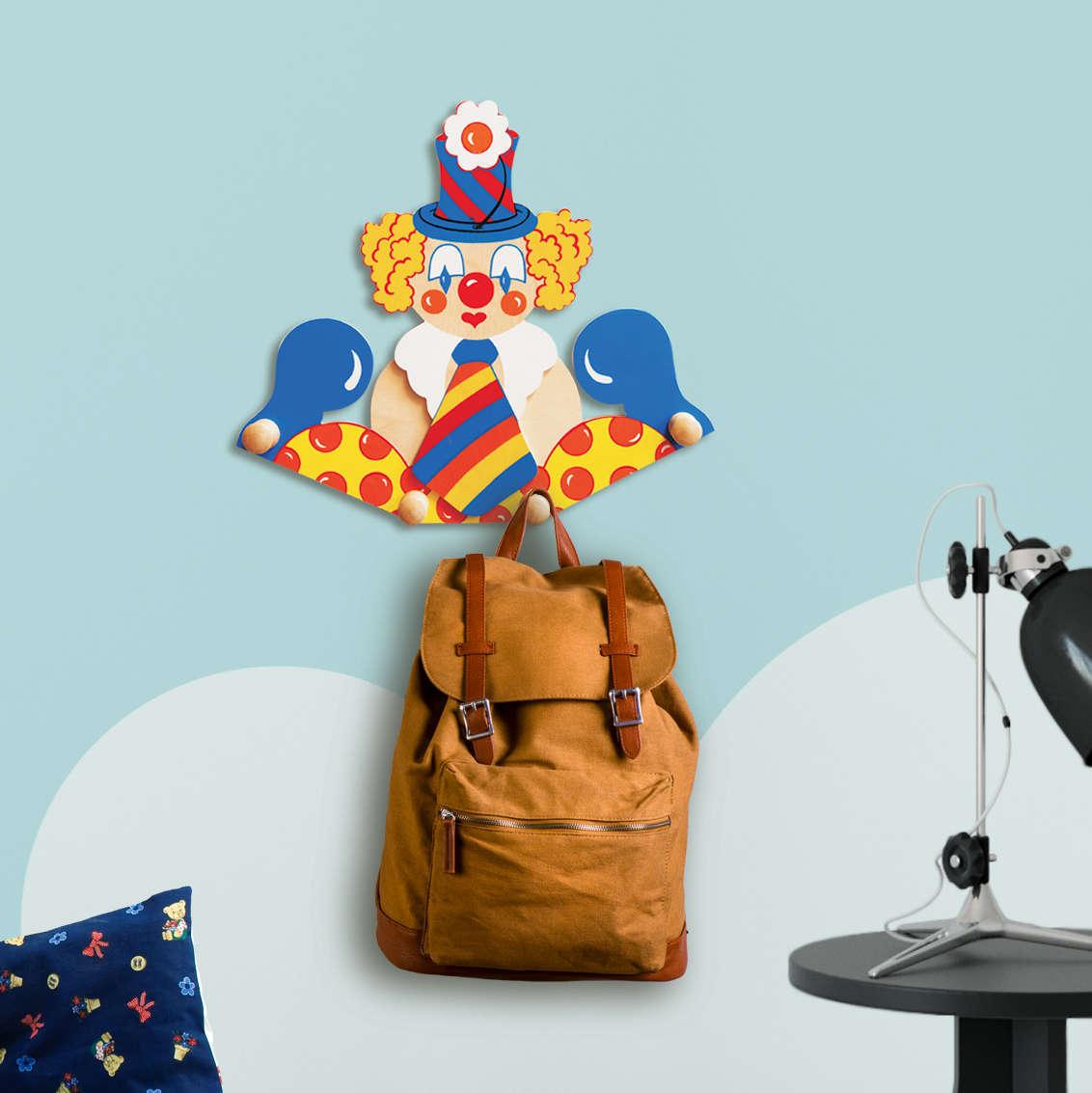 Attaccapanni Da Parete Per Bambini.Attaccapanni Da Parete Per Bambini Clown Cravatta