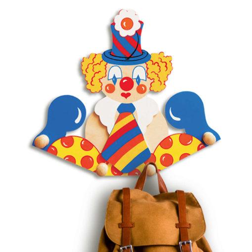 Attaccapanni da parete per bambini – Il Clown cravatta che arreda - Dida