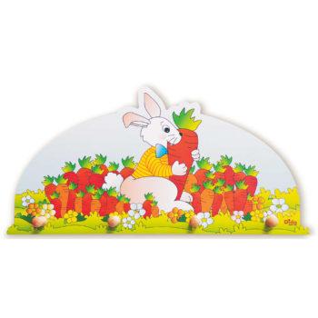 Appendiabiti per bambini- Coniglio- attaccapanni da muro per bambini-Dida