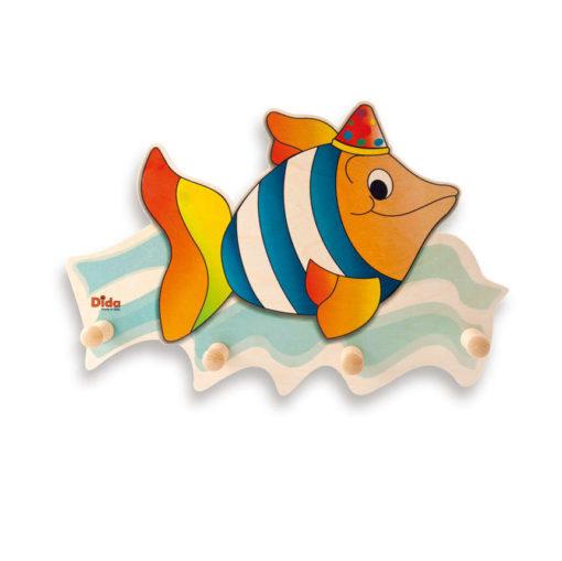Appendiabiti cameretta dei bambini – un coloratissimo Pesce arreda - Dida