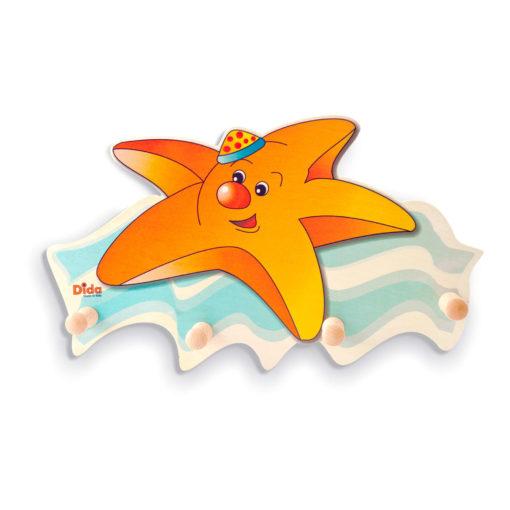 Appendiabiti da parete per bambini-arredare con la Stella marina - Dida