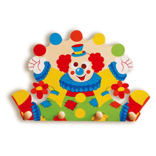 Appendiabiti legno per bambini – Clown - Arredare la cameretta - Dida
