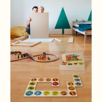 """Domino in legno """"Nel bosco"""" è un gioco da tavolo e di società - Dida"""