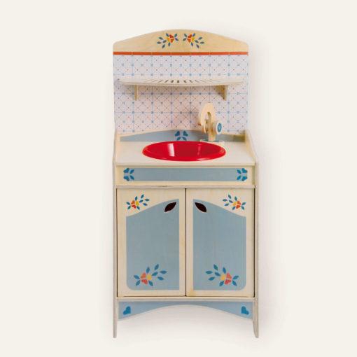 Lavello giocattolo legno - gioco d'imitazione per bambini dai 2 anni - Dida