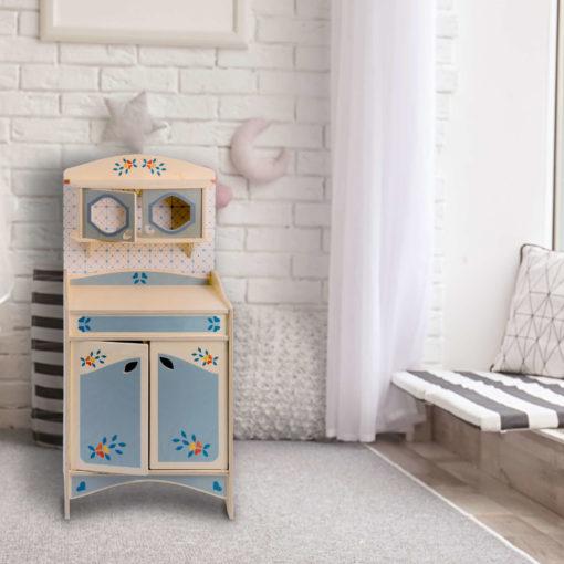 Credenza giocattolo per bambini - spazio cucina bimbi - Montessori - Dida