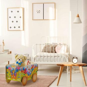 Carretto per bambini in legno - Cameretta - Porta giochi per bambini - Dida