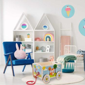 Carrello per bambini, portagiochi carretto contenitore per la cameretta-Dida