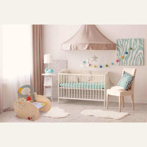 Poltroncina per bambino con decori floreali - la cameretta dei bimbi - Dida
