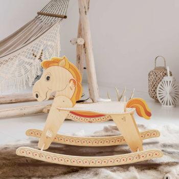 Cavalluccio a dondolo-giochi di cavalli da cavalcare-cavallo a dondolo-Dida