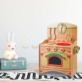 Trio cucina giocattolo in legno Fiocco -gioco simbolico per piccoli chef-Dida
