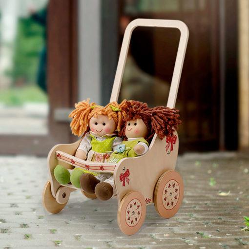 passeggino bambole fiocco