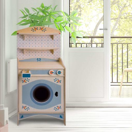 Lavatrice giocattolo in legno gioco di imitazione per bimbi dai 2 anni - Dida