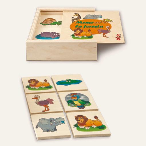 Memo Foresta gioco da tavolo e di memoria per bambini piccoli - Dida