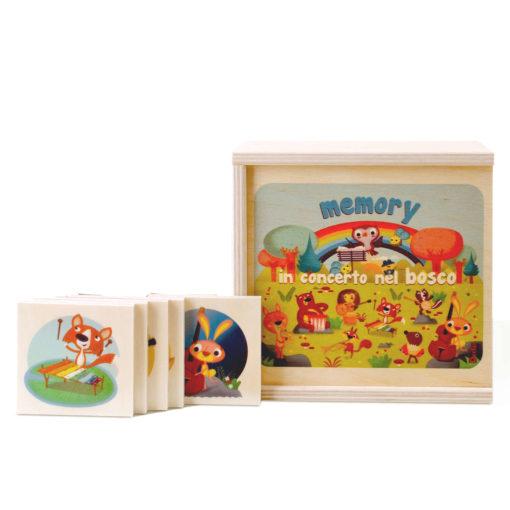Memory animali in concerto nel bosco gioco di memoria per bambini - Dida