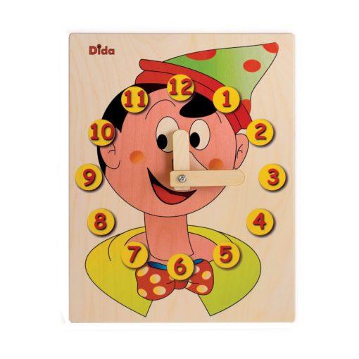 Orologio didattico Pinocchio per apprendere come funziona l'orologio -Dida