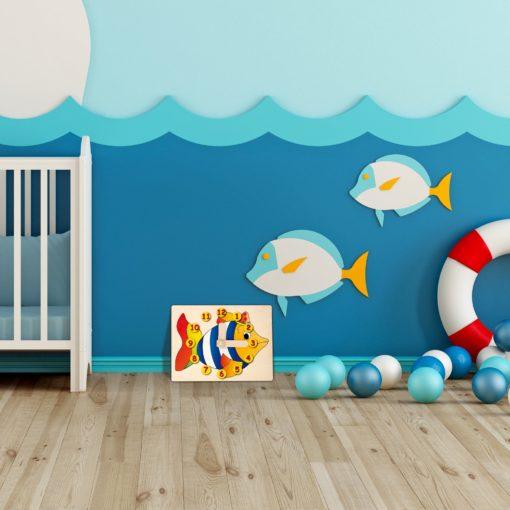 Orologio didattico Pesce - orologio di apprendimento - Montessori - Dida