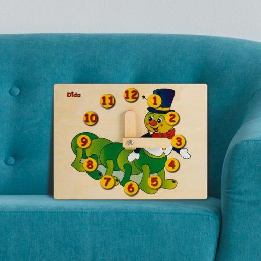 Orologio didattico Bruco imparare a leggere le ore - gioco didattico - Dida