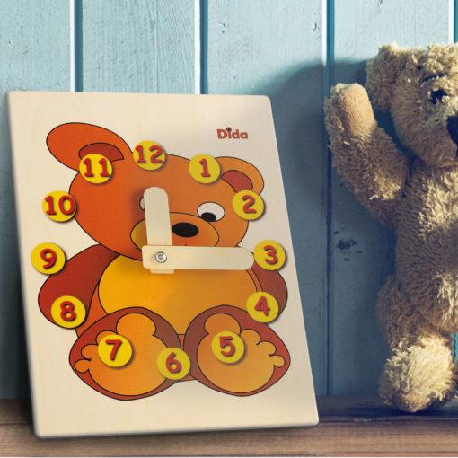 Orologio didattico Orso - orologio di apprendimento per bambini - Dida