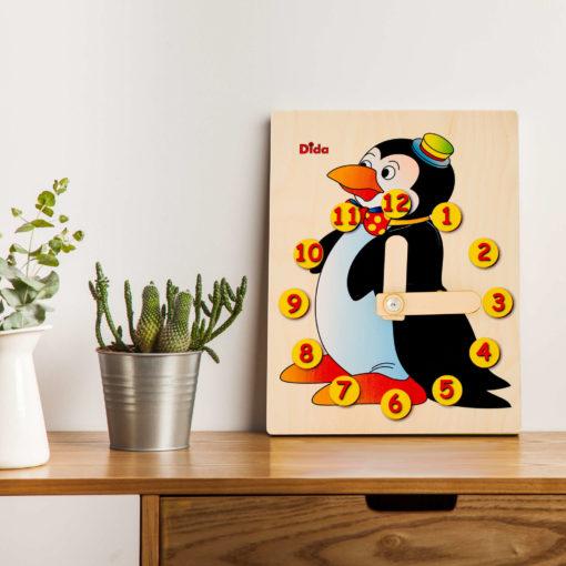 Orologio didattico Pinguino - gioco didattico per imparare le ore - Dida