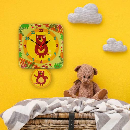 Orologio pendolo Orsetti per la cameretta dei bambini-Dida