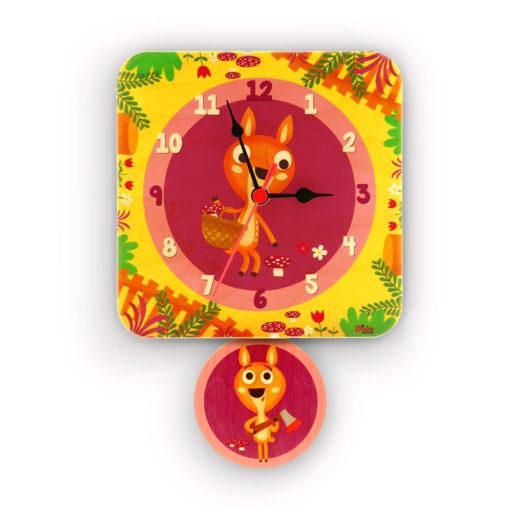 Orologio pendolo cerbiatti per la cameretta dei bambini-Dida