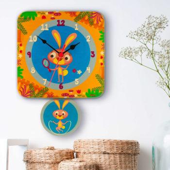 orologio pendolo conigli