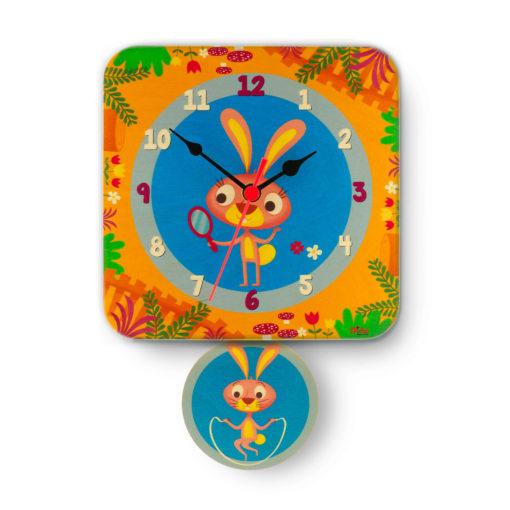 Orologio pendolo Conigli per la cameretta dei bambini-Dida