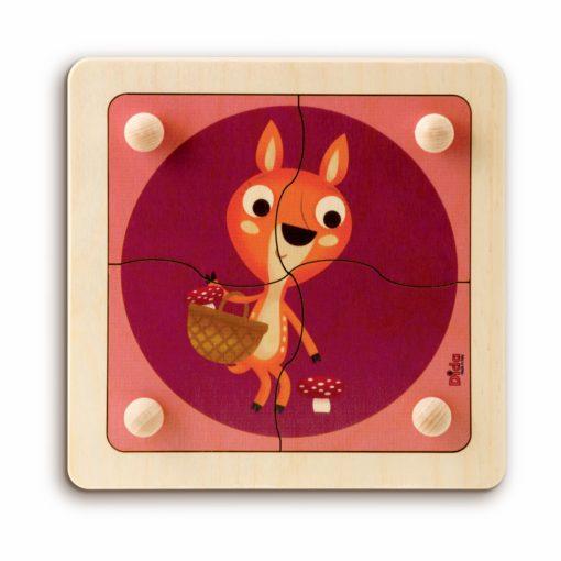 Puzzle Cerbiatto gioco educativo, stimola la manualità dei bimbi - Dida