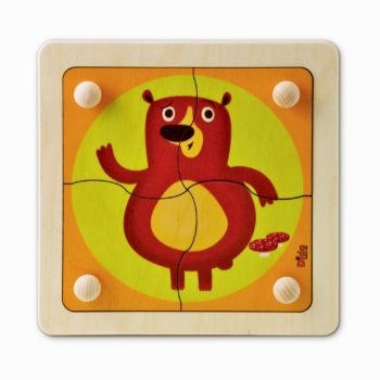 Puzzle Orso - incastri e puzzle legno tessere con pomelli per bambini -Dida