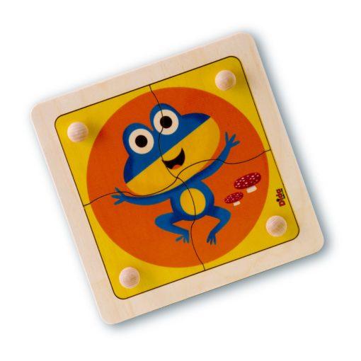 Puzzle Ranocchio-primi incastri per bambini svippano la motricità fine-Dida